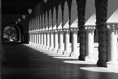 Pattern of arches. Black and white royalty free stock image