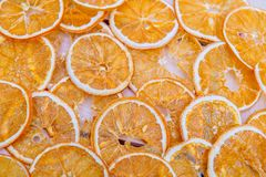 The pattern arranged with dried orange slices Royalty Free Stock Photos