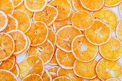 The pattern arranged with dried orange slices Stock Photo