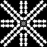 Pattern with arrows in snowflake form Royalty Free Stock Images