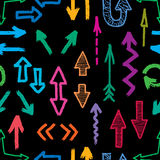 Pattern of the arrows Stock Photo