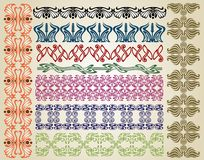 Pattern art nouveau royalty free illustration