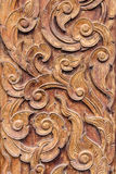 Pattern art of wood carving Royalty Free Stock Photography