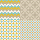 Pattern 4in1. Artistic patterns for some design patterns of home decor Royalty Free Stock Photo