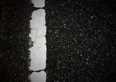 Pattern of asphalt texture with one line. And background Royalty Free Stock Images