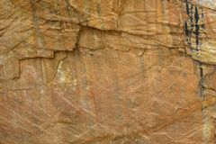 Pattern in the Australian rocks Royalty Free Stock Photos