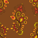 Pattern in autumn colors Royalty Free Stock Photos