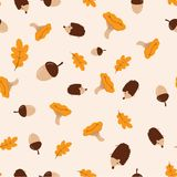 Pattern with autumn elements royalty free illustration