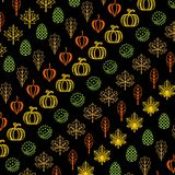 Pattern with autumn elements. Vector illustration. Pattern with stylized autumn elements. Vector illustration on a black background royalty free illustration