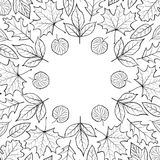 Pattern with autumn leaves Royalty Free Stock Photo