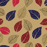 Pattern Autumn Leaves Stock Images