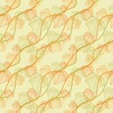 Pattern of autumn macro leaf. Vector seamless Royalty Free Stock Image