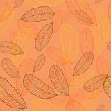 Pattern of autumn macro leaf. Vector seamless Stock Image