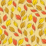 Pattern of autumn macro leaf. Vector seamless Stock Photos