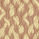 Pattern of autumn macro swirl leaves. Vector Royalty Free Stock Photos