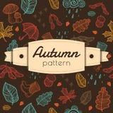 Pattern with autumn stuff Stock Photo