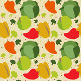 Pattern of autumn vegetables Royalty Free Stock Photography