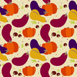 Pattern of autumn vegetables Royalty Free Stock Images