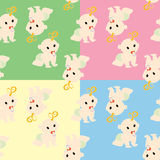 Pattern with babies Stock Photos