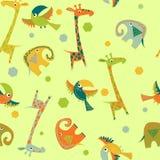 Pattern baby animals Stock Illustration