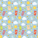 Baby pattern background Stock Photography
