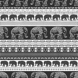Pattern with baby elephant made in vector.  Royalty Free Stock Photo