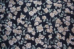 Pattern background. With beige roses Stock Photos