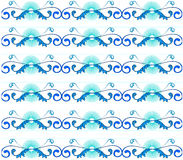 Pattern background. Blue pattern design in white background Stock Photo