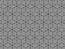 Square box pattern 3D view Is a gray background stock illustration