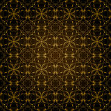 Pattern Background. A background illustration of a repeating gold decorative pattern Royalty Free Stock Photos