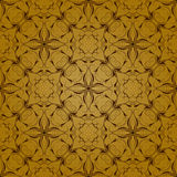 Pattern Background. A background illustration of a repeating gold and brown decorative pattern Royalty Free Stock Photo