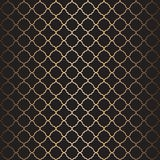 Arabic pattern background in gold and black Royalty Free Stock Images
