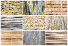 Pattern background of bamboo Royalty Free Stock Images