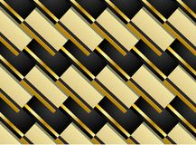 Pattern background in black and gold Royalty Free Stock Photos