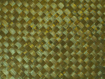Pattern background of brown handicraft wood weave Royalty Free Stock Photo