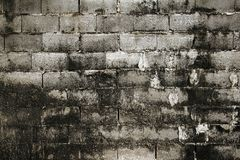 Pattern and background. Concrete block wall Royalty Free Stock Photos