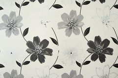 Pattern background. A pattern created from the flower wallpaper of the interior of a flat royalty free stock photography