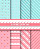Happy valentines day  pattern background. This is pattern background designs valentines day for promotion. basic color pink, white, blue Stock Image