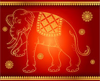 Pattern background Elephant outline thai tradition Royalty Free Stock Images