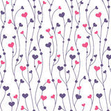Pattern background with hearts Royalty Free Stock Photography