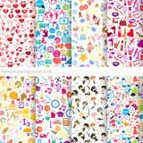 Pattern background icon Stock Photos