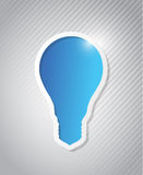 Pattern background with an idea light bulb Royalty Free Stock Image