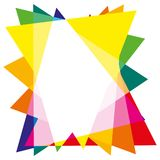 Pattern background from multicolored triangles royalty free stock image