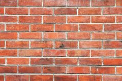 Pattern and background. Red brick wall. Red brick wall texture background royalty free stock photo