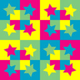 Pattern background with squares and stars. Stock Images