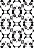 pattern background texture pattern of cute pandas Royalty Free Stock Photo