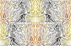 Pattern background tiger with head Stock Photo