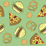 Pattern of baking fast food  illustration Royalty Free Stock Images