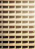 Pattern of balcony with warm light in evening. Royalty Free Stock Photo