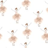 Pattern with ballerina dancers Royalty Free Stock Images